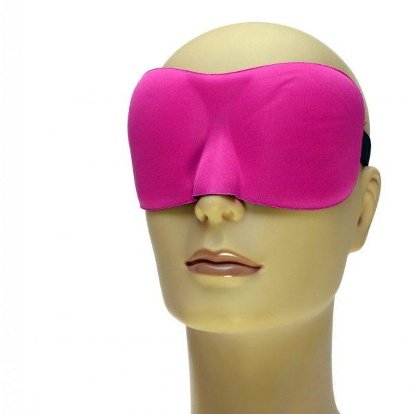 Drukvrij slaapmasker kleur roze