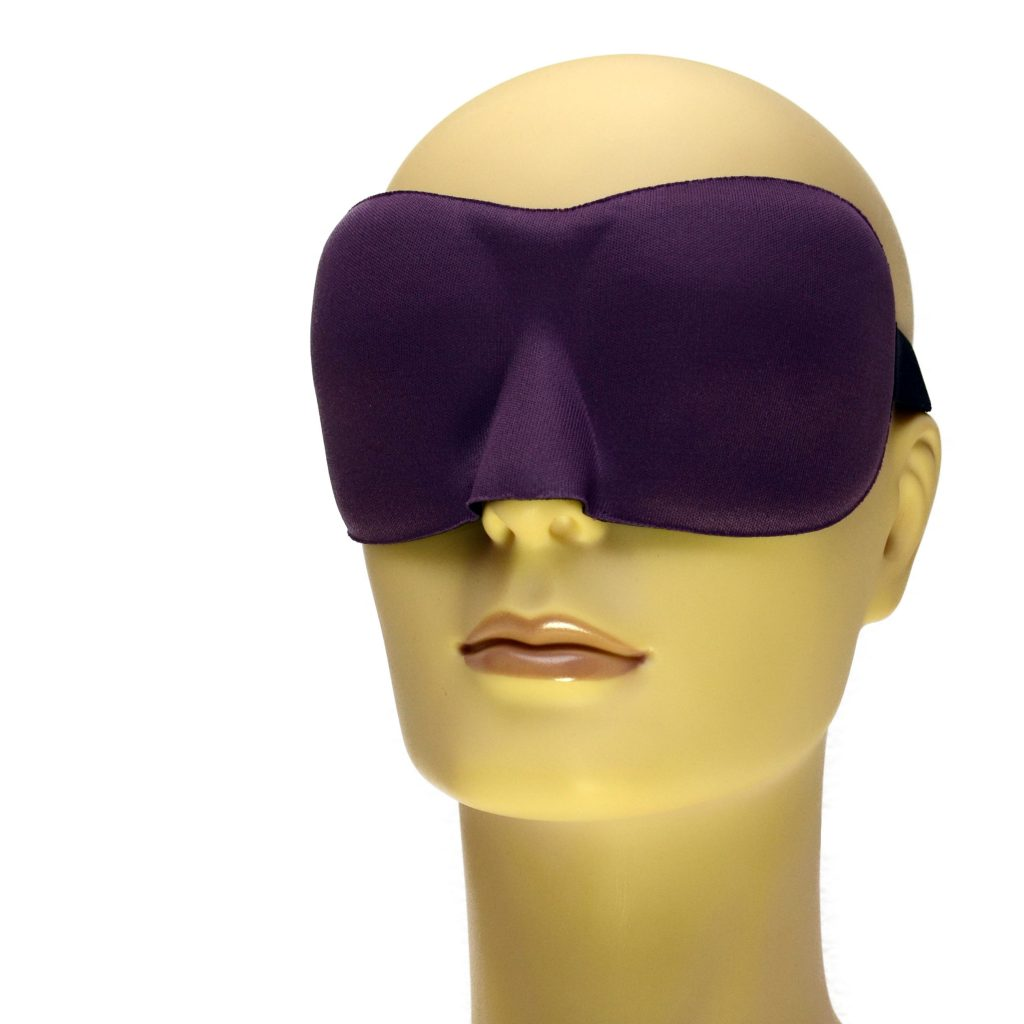 Drukvrij slaapmasker kleur paars