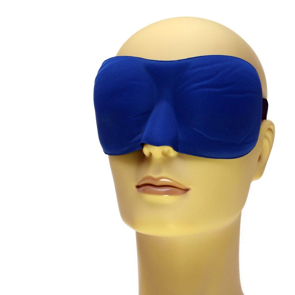 Blauw slaapmasker